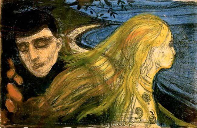 Petites nouvelles russes - Edvard Munch, 'Separation II' 1896